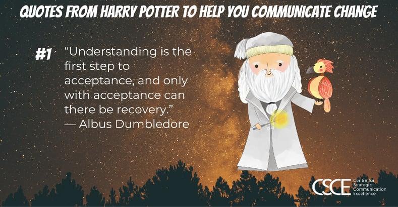 Albus Dumbledore quote and image