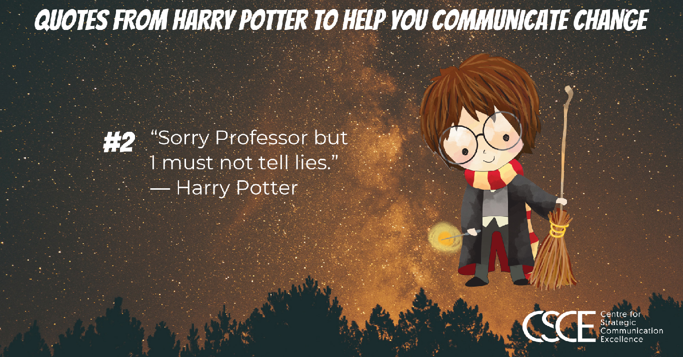 harry potter quotes to help you communicate change
