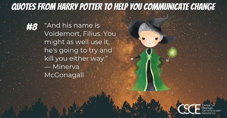 Minerva McGonagall quote and image