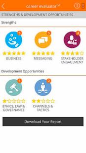 Career Evaluator Screenshot - Focus on your priority needs