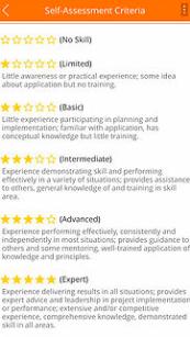 Career Evaluator Screenshot - Self-assessment criteria