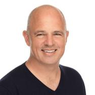 Bald man smiling